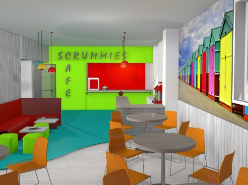3d Computer visual Of Scrummies Cafe