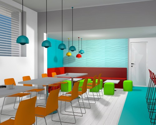 3d computer visualisation of Scrummies Cafe