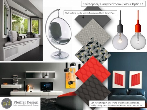 Bedroom 3 Concept Board