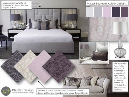 Master Bedroom Concept Board
