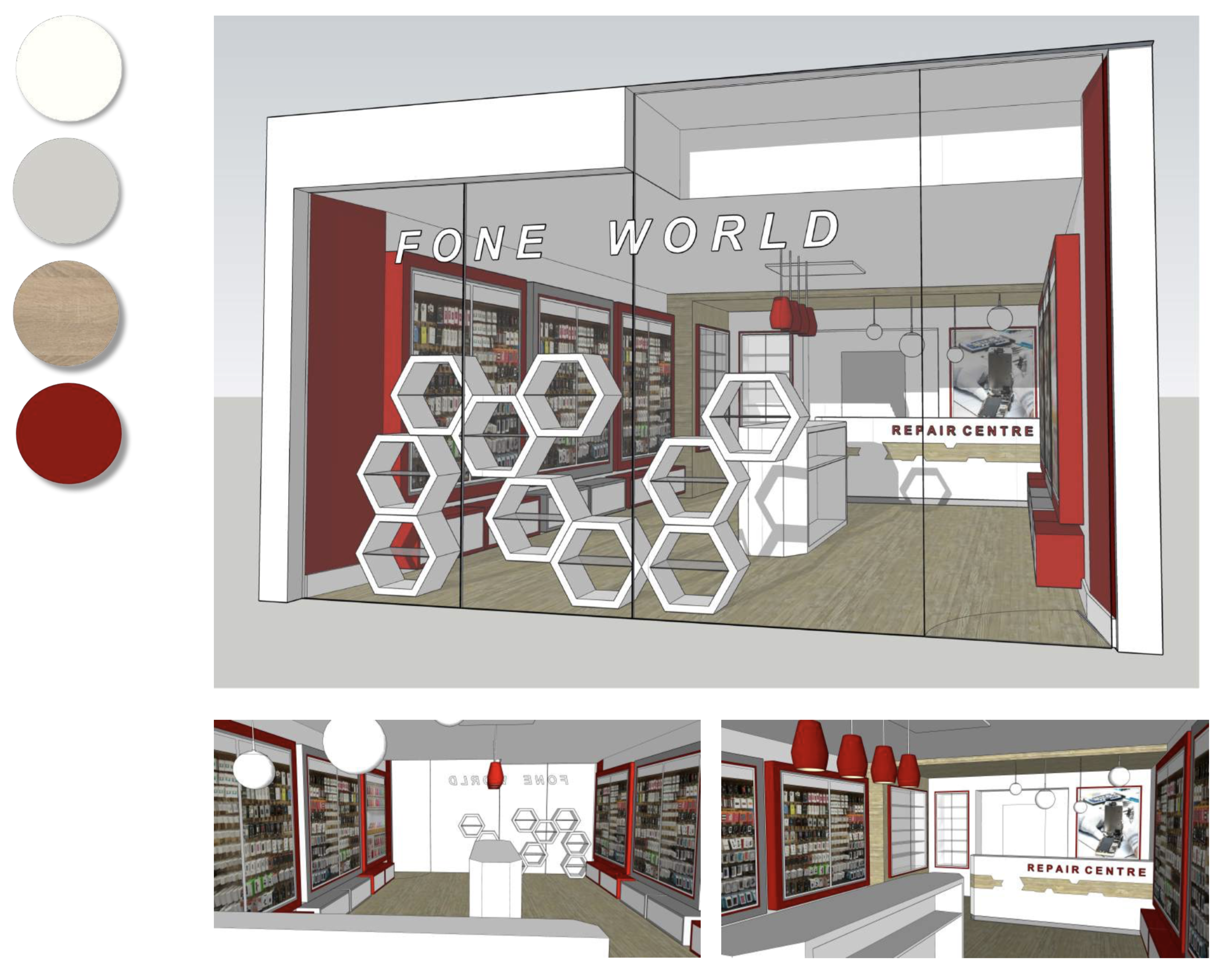 Image for Designing a flagship store for Fone World