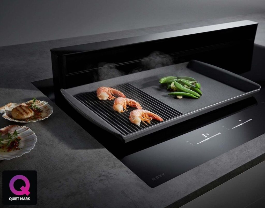 integrated induction hob for kitchen