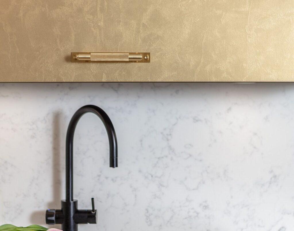 metallic kitchen cabinets