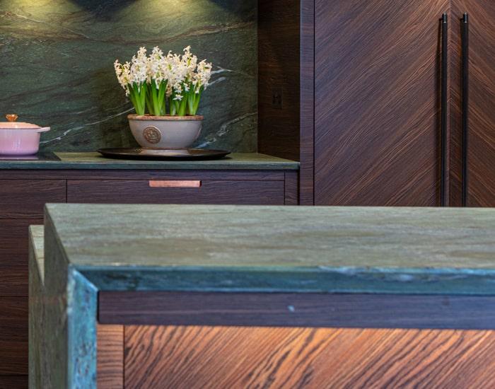 Concealed storage in a Pfeiffer design kitchen